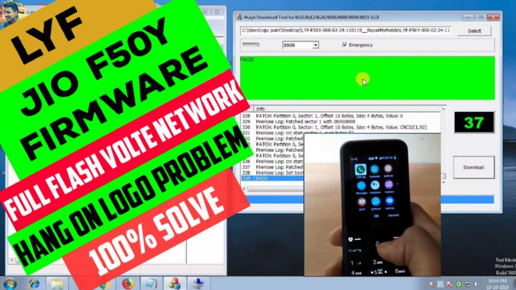 How To Flash Jiophone f50y flash file: