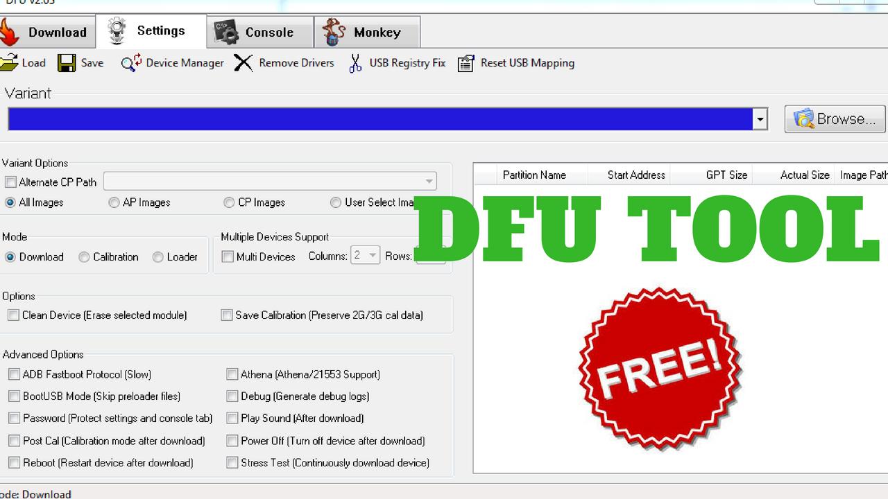 DFU Tool Free