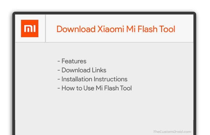 MiFlash Tool