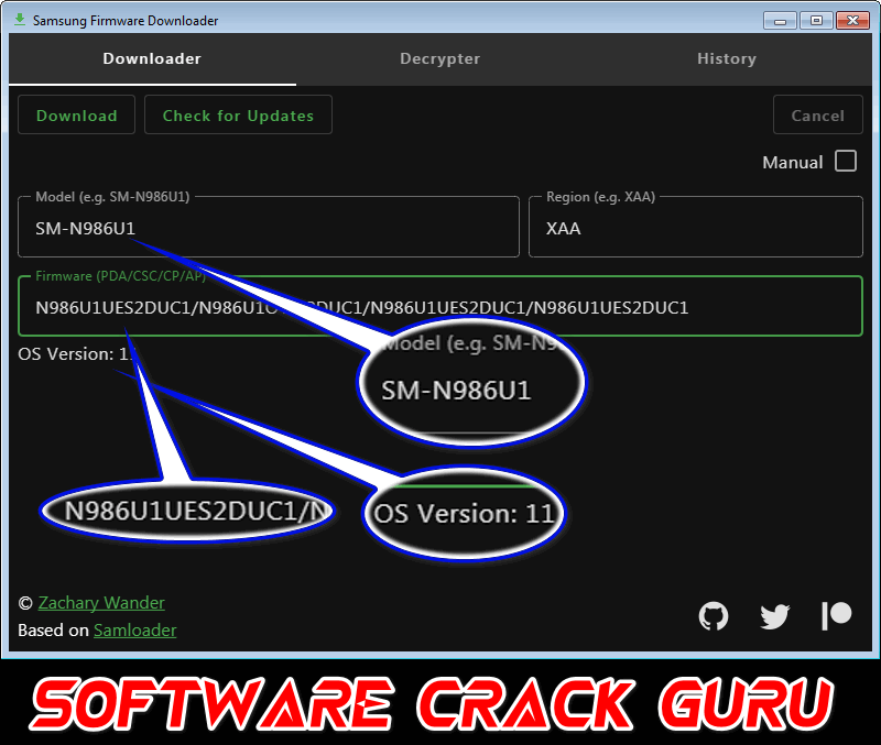 Samsung Firmware Downloader v 0.3.1 From PC No Need open Browser