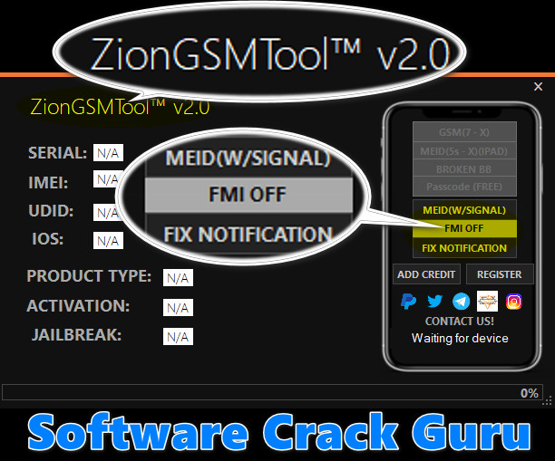 Zion GSM Tool v2.0 Latest Release Free Download
